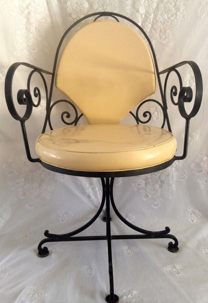 A Set Of 4 Rare Original Antique Swivel Chairs French Inspired