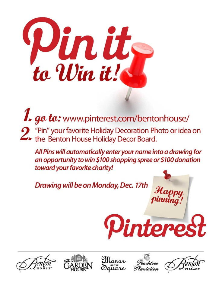 Holiday Pinterest Contest!: House Holidays, Benton House, Holidays Pinterest, Holidays Decor, Pinterest Contest
