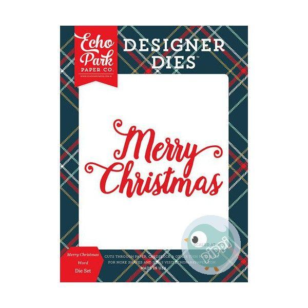 Vágósablon , Deck the Halls / Designer Dies - Merry Christmas Word  (1 csomag)