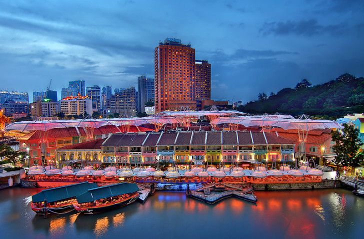 Amazing live bands and salsa dancing @ Clark Quay #Singapore :) FULL stopover post-> http://wanderingtrader.com/travel-blog/top-things-to-do-singapore-tourist-attractions/