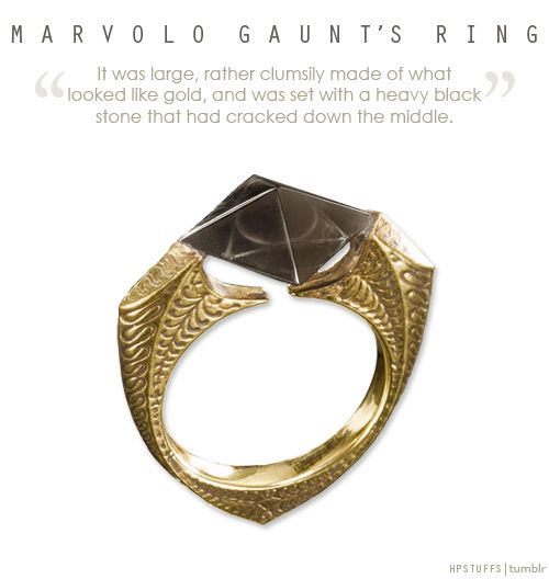 Harry Potter - Marvolo Gaunt's Ring - Horcrux - Created by killing Tom Riddle Sr. Possibly around 1943/44. Destroyed by Dumbledore in 1996 using the Sword of Gryffindor.