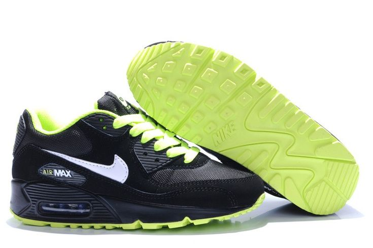 Acheter Nike - Air Max - noir vert fluo blanc La Saint-Valentin Chaussures pas cher - Acheter Nike Air Max noir vert fluo blanc La Saint-Valentin Chaussures pas cher