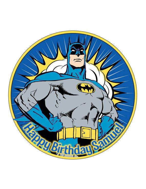 Edible Cake Cupcake Topper Decoration Image Batman by CakersWorld