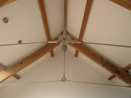 Sta-Lok Stainless Steel Tie Rods were use to modernize the oak timber supports.
