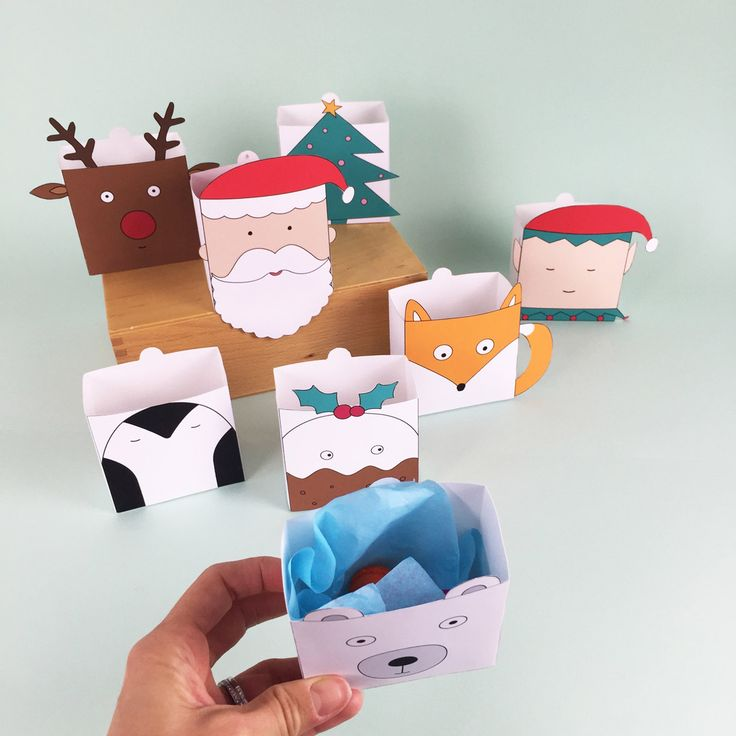 hello, Wonderful - CUTE FREE PRINTABLE CHRISTMAS HOLIDAY FAVOR BOXES