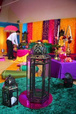 Wedding Decor details. Pre-wedding (Mehndi) Party