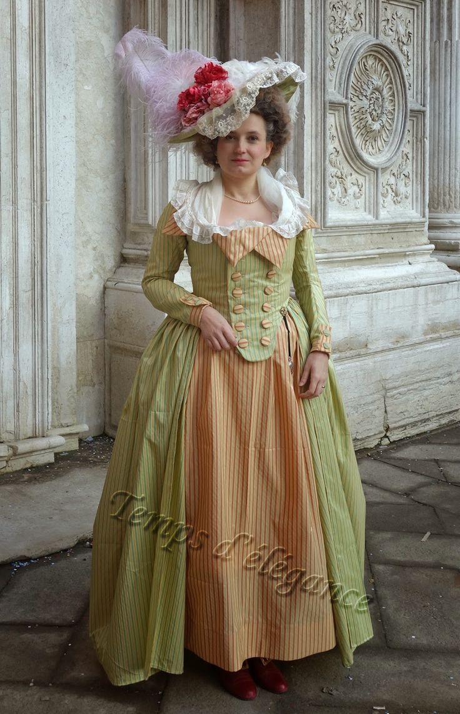 Robe redingote rayée costumes in pinterest th century