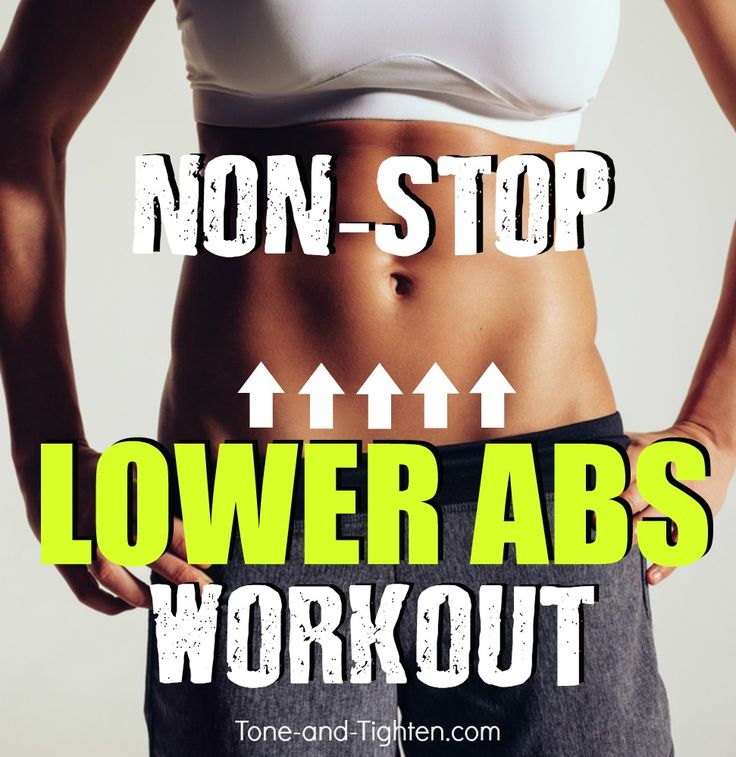 The hardest lower ab workout you've ever done! From Tone-and-Tighten.com