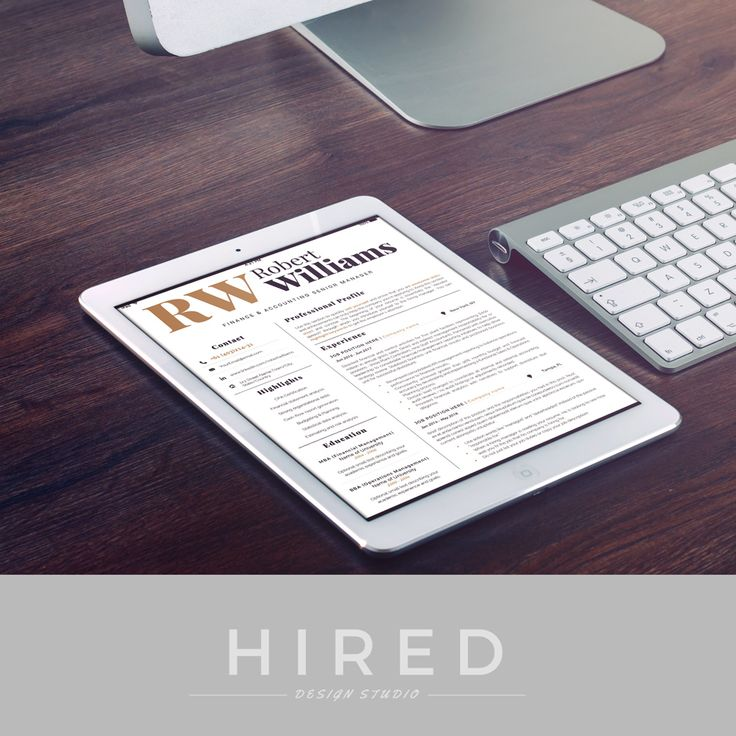 Modern u0026 Professional Resume Template for Word