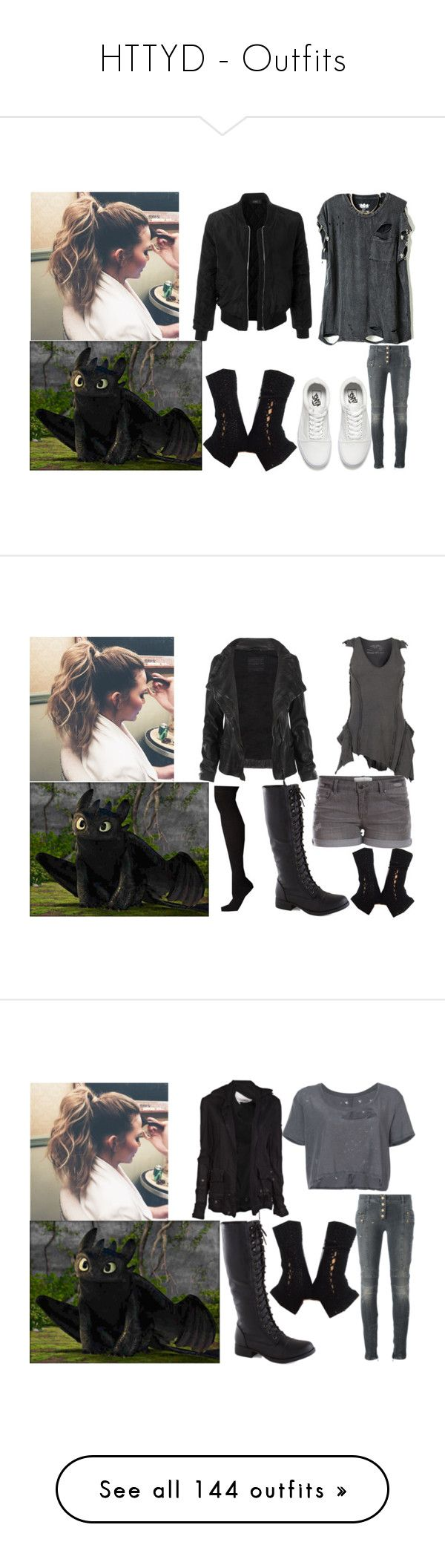 """HTTYD - Outfits"" by annabellewren ❤ liked on Polyvore featuring HowToTrainYourDragon, httyd, Vans, Balmain, LE3NO, modern, AllSaints, Pieces, Socksmith and Greg Lauren"