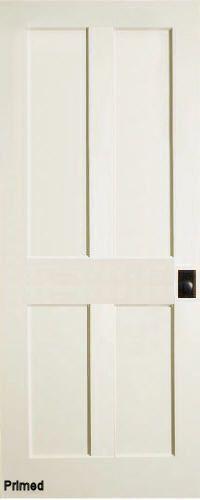 Traditional 4-Panel Interior Door (Primed)
