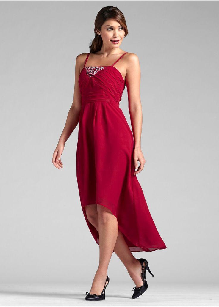 Sukienka szyfonowa z dłuższym tyłem • 109.99 zł • bonprix