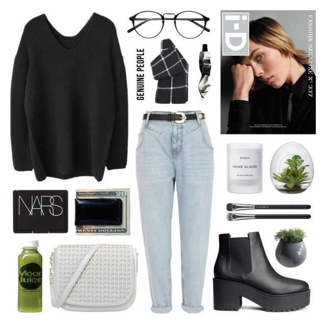 """""""wild at heart"""" by jesicacecillia ❤ liked on Polyvore featuring River Island, H&M, Byredo, Alasdair, Moon Juice, Moore & Giles, NARS Cosmetics, Dot & Bo, Aesop and MAC Cosmetics"""