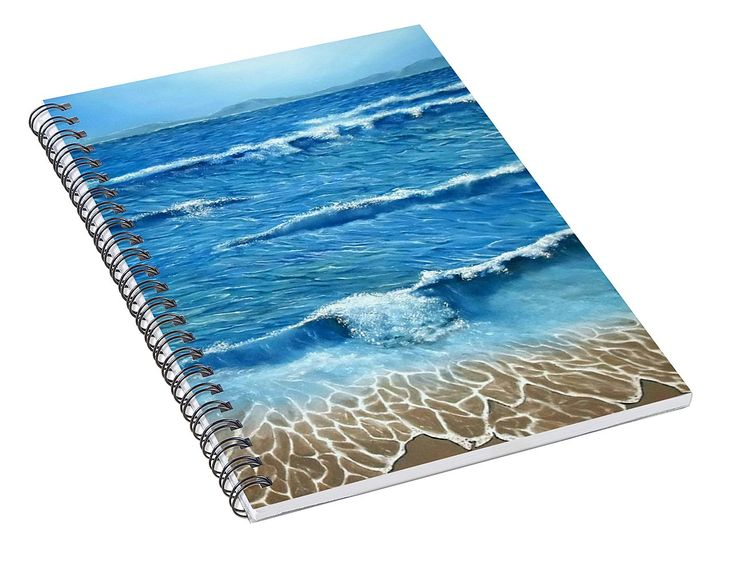 Spiral Notebook,  stationery,school,supplies,cool,unique,fancy,trendy,awesome,beautiful,design,unusual,modern,artistic,for,sale,items,products,office,organisation,waves,nature,sea,blue