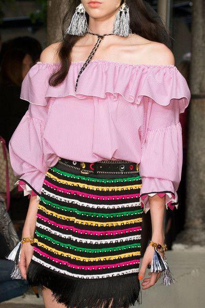New Hippie Chic – Details from the Blugirl Spring Summer 2017 Fashion Show #mfw