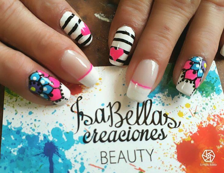 #arteconamor #uñaslindas #beauty #Isabel #mandalas #corazones #nails #masglo  #coloresvivos #decoraciónparatodaocasion