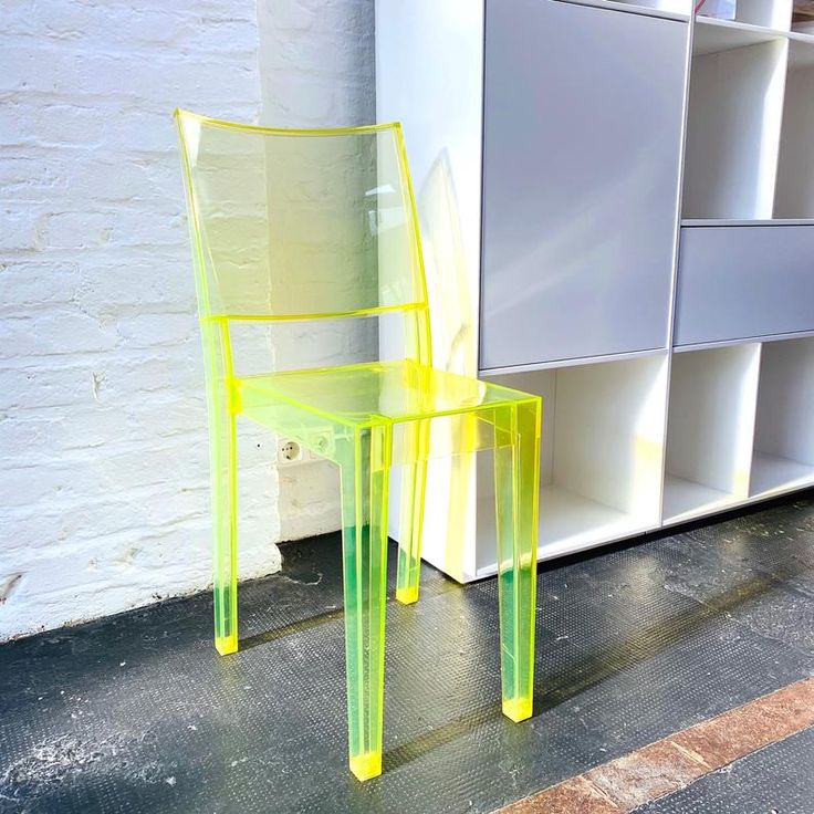 kartell la marie chair by philippe starck neon yellow transparent