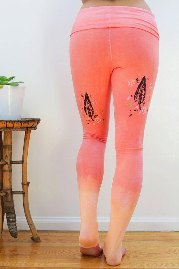 Ombre yoga broek ombre yoga legging, ombre legging, organische legging, Boheemse legging, boho legging, festival legging, biologische yoga