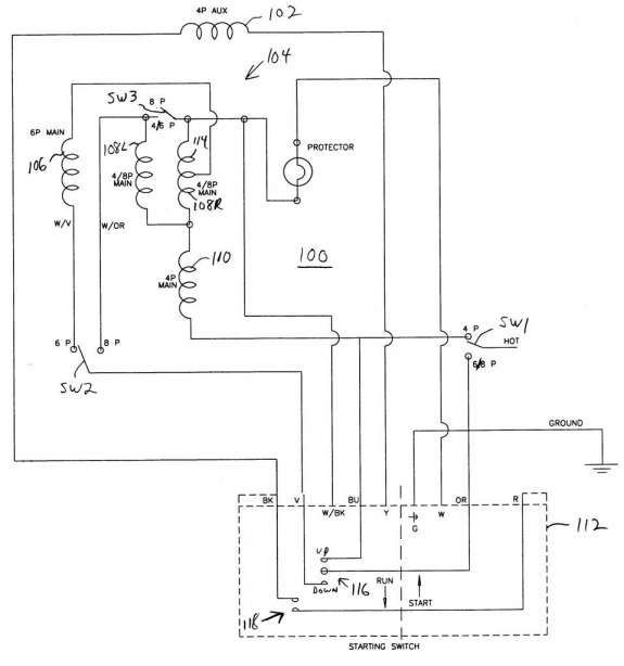 Electric Motor Capacitor Wiring Diagram from i.pinimg.com