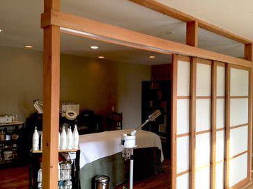 Sliding walls in basement modern for Sliding wall room divider