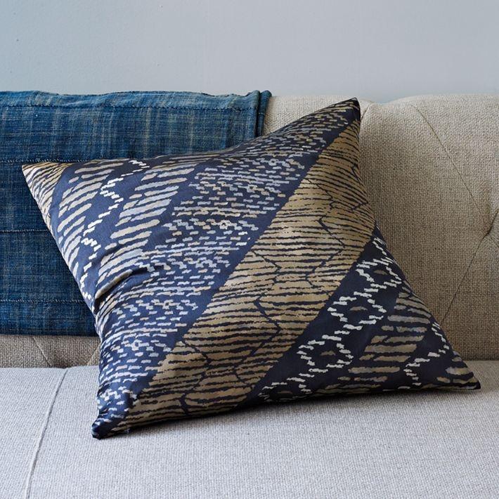 Nordic stripe silk pillow cover west elm bachelor pad West elm pillows