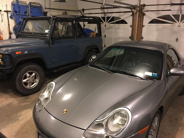 My 2001 996 C2 Cabriolet next to dad's '94 D90 #Porsche #porsche911 #porschelife #cayenne #cars #car