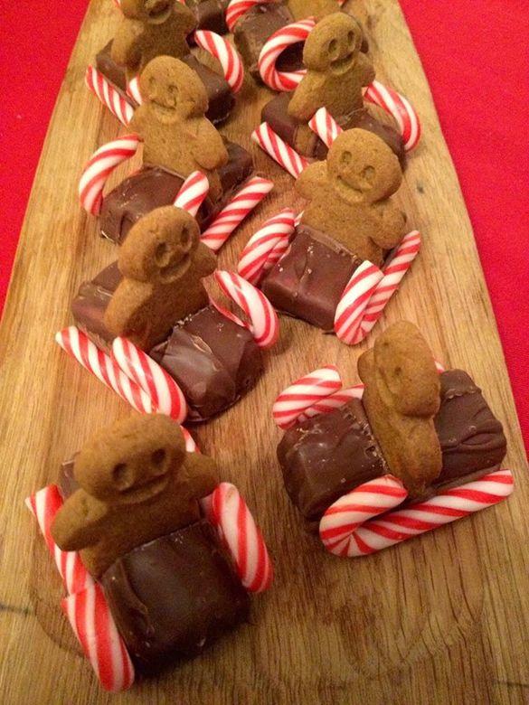 Sledging Gingerbread Men - fancy-edibles.com