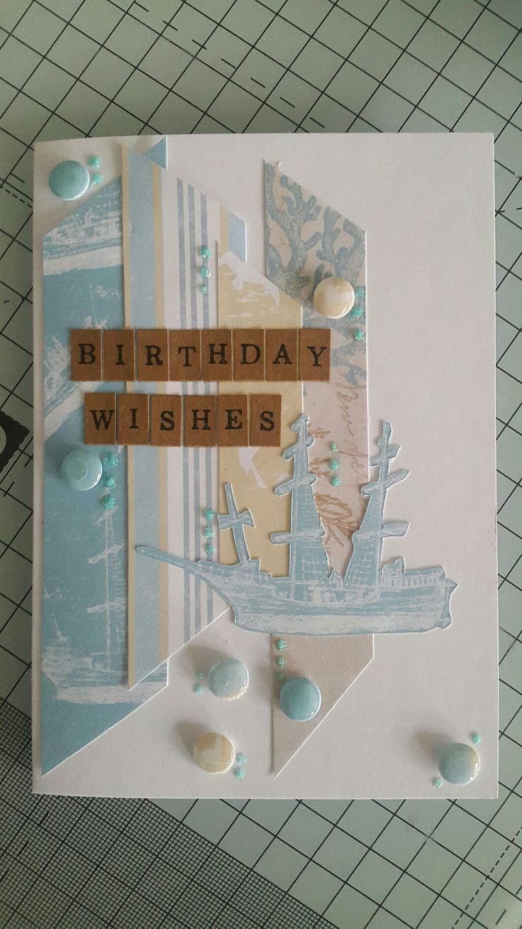 Handmade card by Mary Gillingham using Craft work Cards Coastal collection