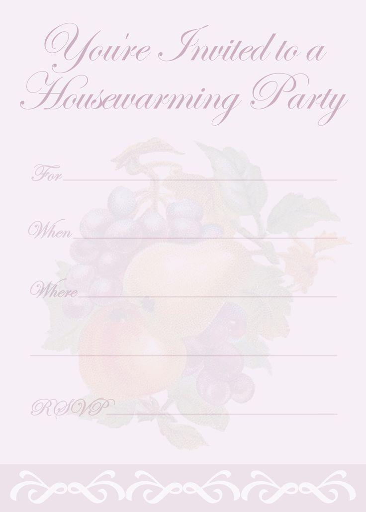 Free Printable Housewarming Party Invitations