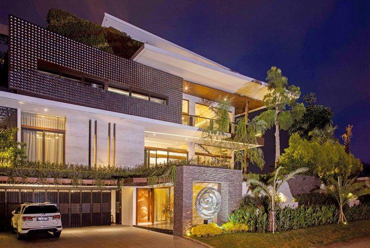Creative modern house architecture facade Futuristic