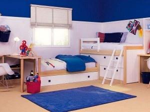 Blau-weißes Zwillingszimmer / blue-white room for twins