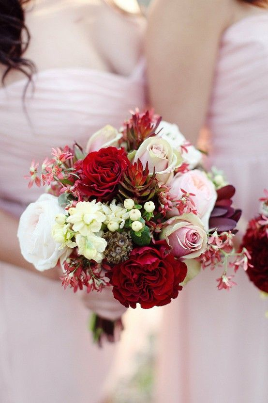 78 best images about red purple and pewter or gold for Gold flowers for wedding bouquet