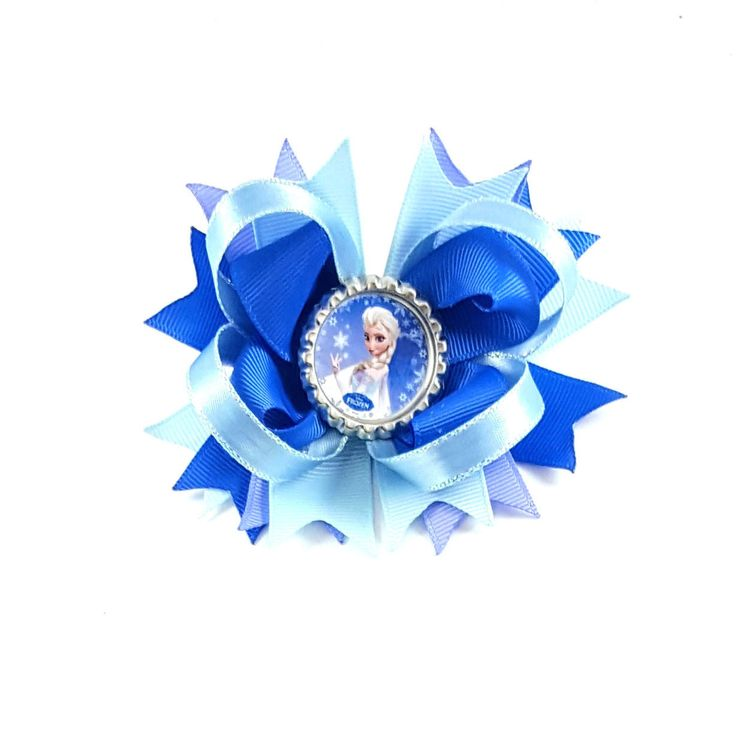 Elsa Hair Bow Clip, Frozen Hair Bow Clip, Queen Elsa Hair Bow Clip, 4 Inch Hair Bows, Blue Hair Bow Clips, Bows for Girls, Bows for Toddlers by BethysBowsAndMore on Etsy