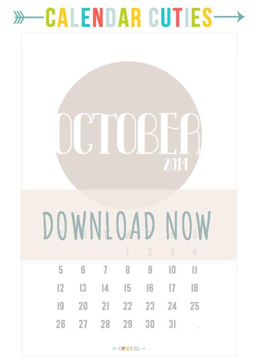 I Love It All: calendar cuties | october 2014