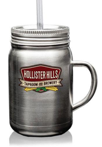Discount Mugs custom mugs ~ Stainless Steel Mason Jars