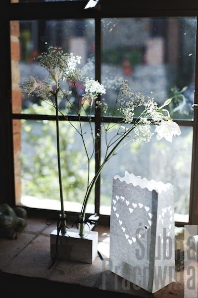 dekoracja weselna okna