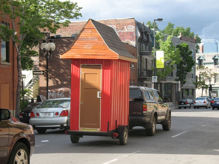 Is it legal to pull a trailer behind a trailer?  Or is it possible for a tiny shower to double as a sauna in an already tiny house?