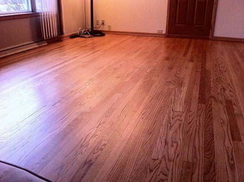cleaning unfinished hardwood floors