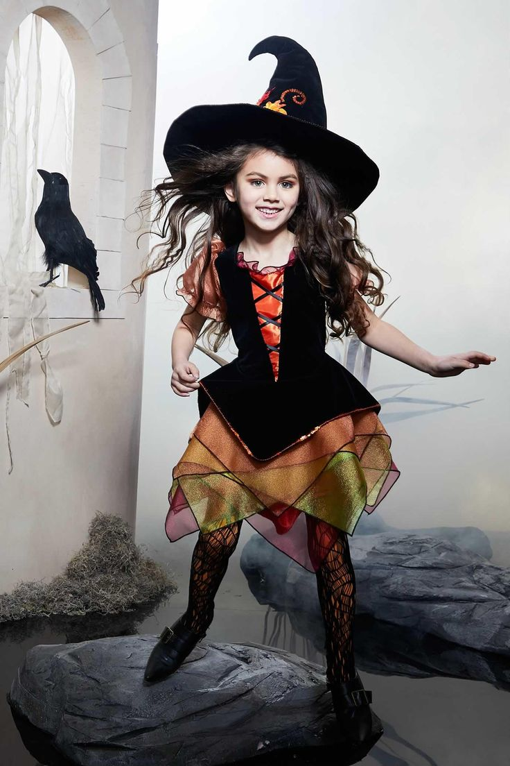 Autumn Witch Costume for Girls Halloween disfraces