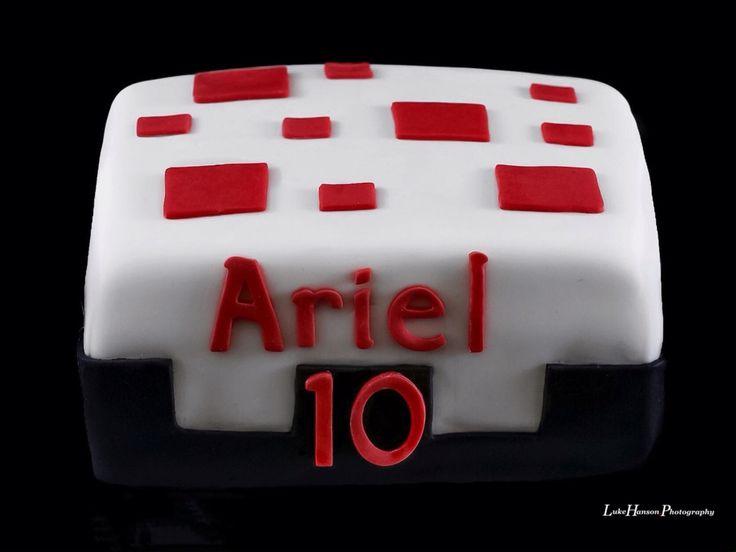 Minecraft Cake Block Cake
