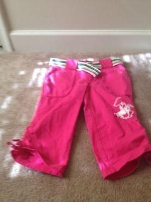 Beverly Hills Polo Club Girl's Capri Pants Sz 10 Pink