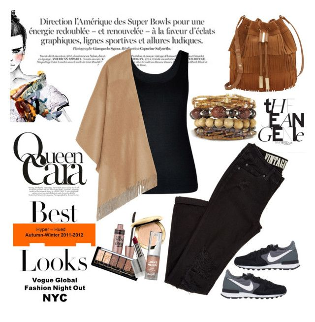 """Brown like an indian"" by aninditaarr on Polyvore featuring Maybelline, City Chic, rag & bone, NIKE, Vince Camuto and MML"
