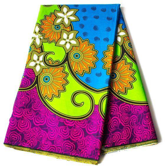 Ankara Supreme Wax African Fabric 100/% Cotton Patterns 1 Yard or 6 Yards