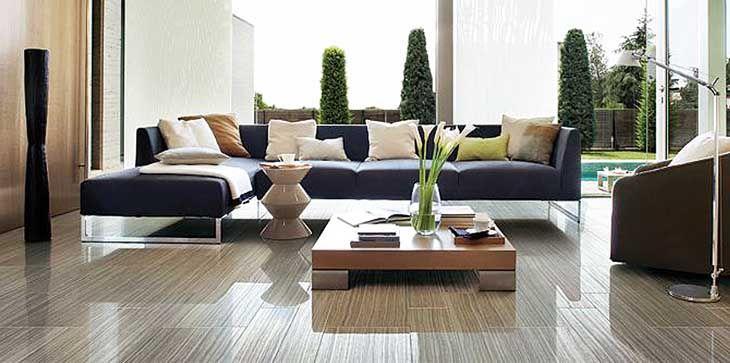Cerdomus Avenue Black Semi-Polished Polished wood-look ...