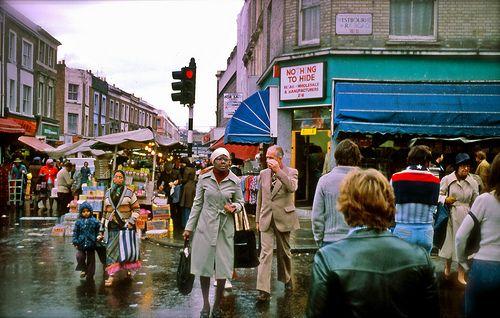 Portobello Road, London, England, October 1977.