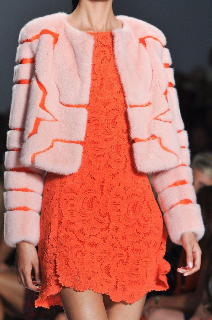 Dennis Basso at New York Fashion Week Spring 2014 - Details Runway Photos