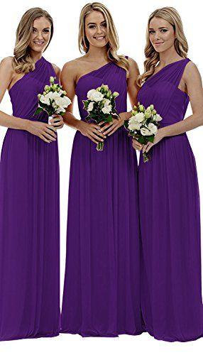 baf384b4940 Great for Staypretty Staypretty Bridesmaid Dresses for Women Long One  Shoulder Asymmetric Chiffon Prom Evening Gown womens dresses.