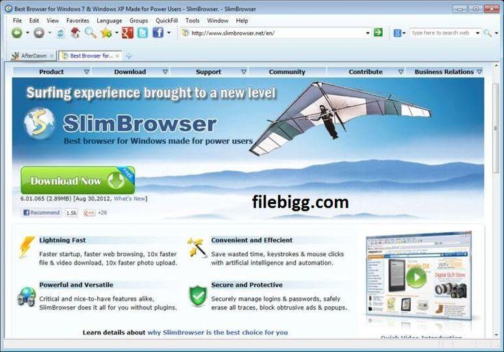 Free Download Software SlimBrowser 7.00 Build 126 - filebigg.com