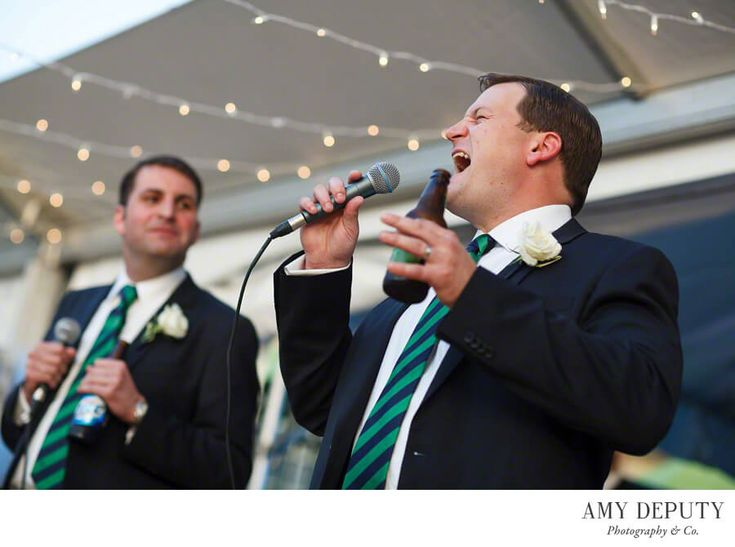 Green Spring Valley Hunt Club Wedding Photographer - Groomsman Speech | Amy Deputy Photography
