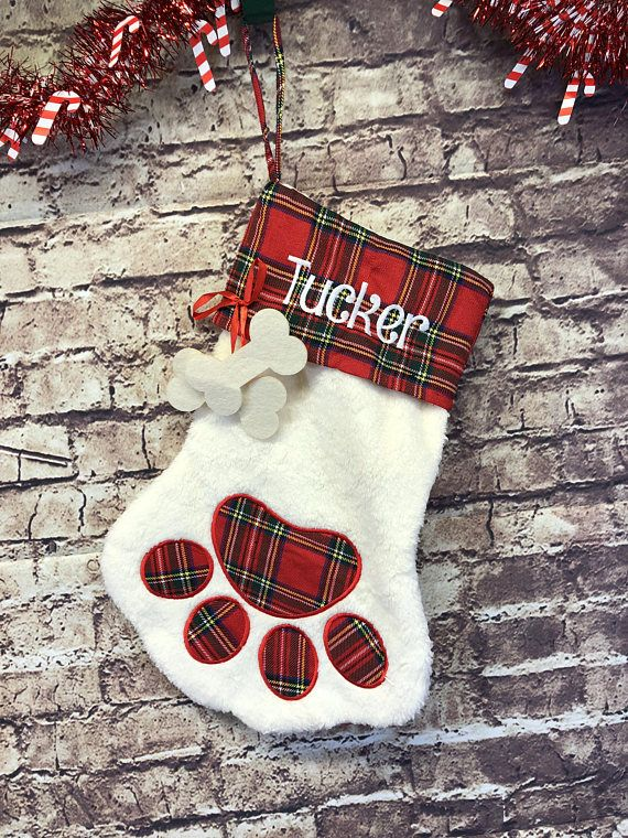 Custom Pet Christmas Stocking Gift Embroidered Stocking for #dogstocking #petstockings #christmasstockings #personalizedstocking